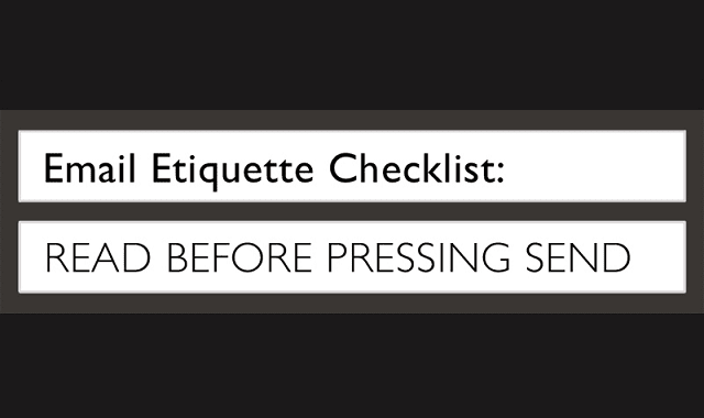 The Email Etiquette Checklist