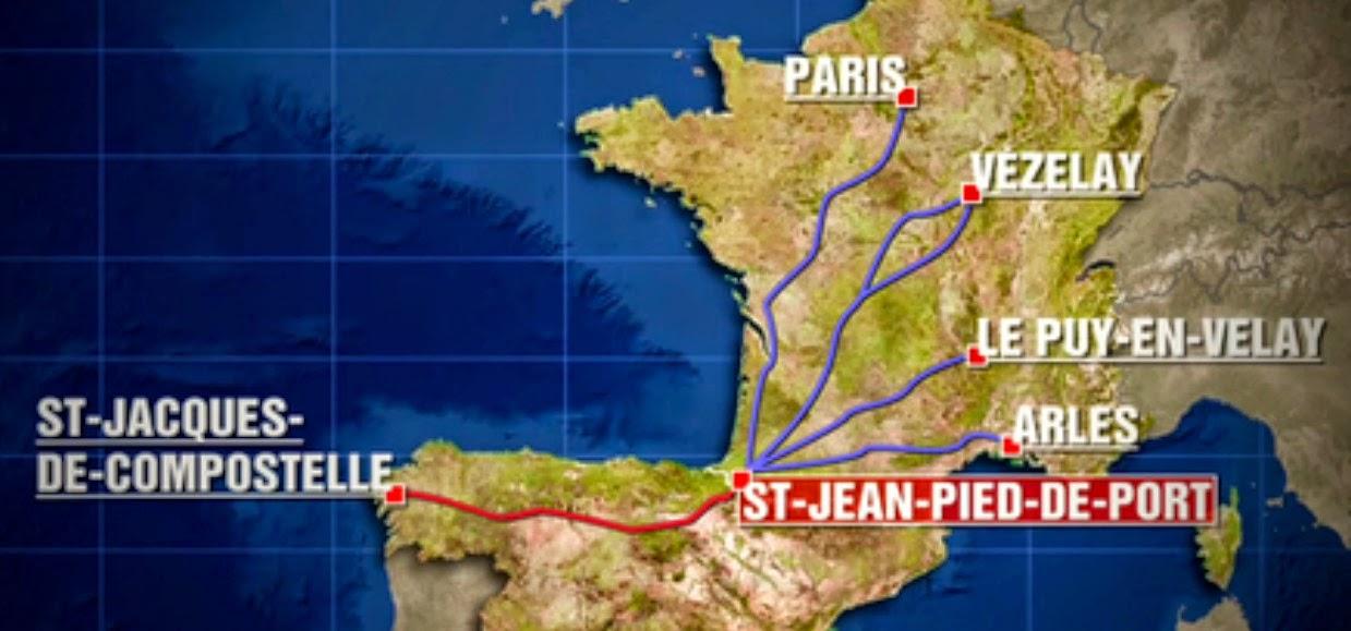 Notre camino frances 2015 - St jean pied de port to santiago distance ...