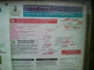 Dog restrictions are lifted on 1st Oct by Cornwall Council