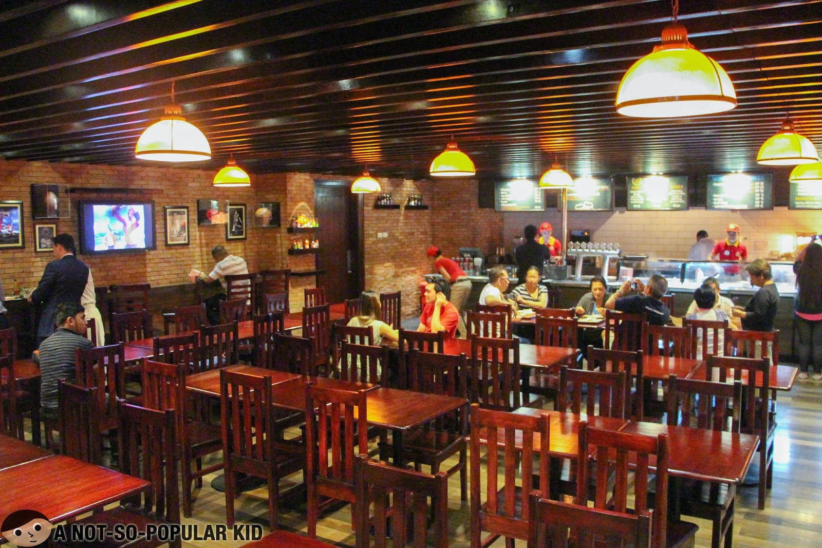 Interior of Franks Craft Beers with sufficient seating capacity