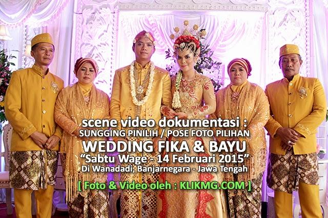 Sungging Pinilih / Pose Foto Pilihan pada Pernikahan FIKA & BAYU - 14 Februari 2015