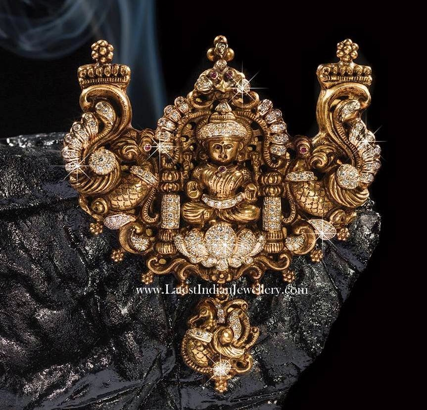 Fusion Lakshmi Pendant Antique Nakshi