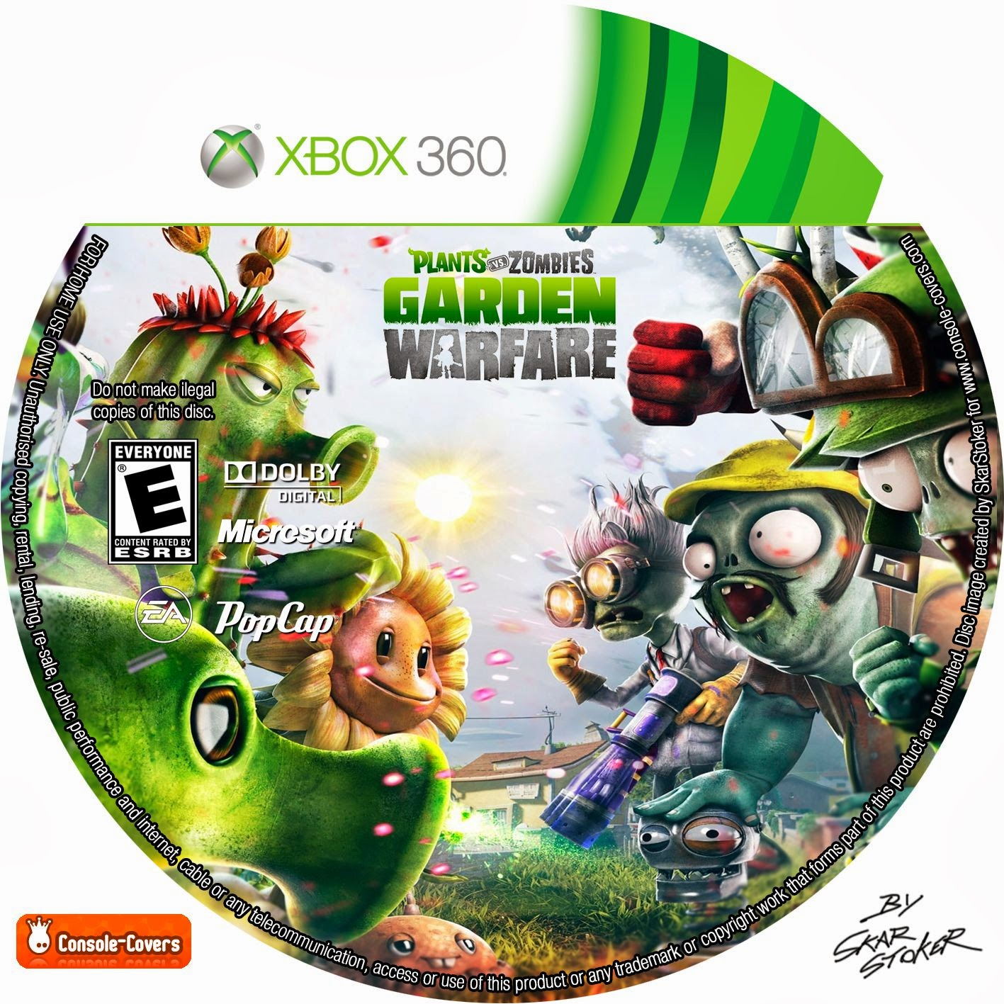 Label Plants Vs Zombies Garden Warfare Xbox 360