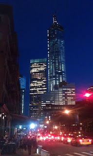 One World Trade Center towers over New York City