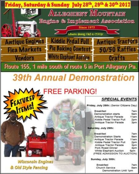 7-28/29/30 Allegheny Mountain Engine Show