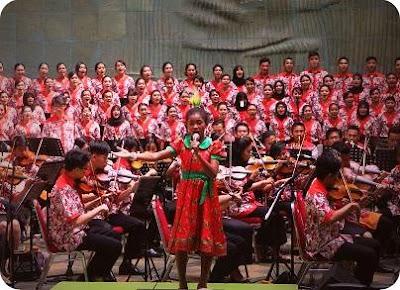 Natalia Mandowen, Siswi SDN 6 Manokwari Nyanyikan 'Pancasila Rumah Kita' di Istana Negara