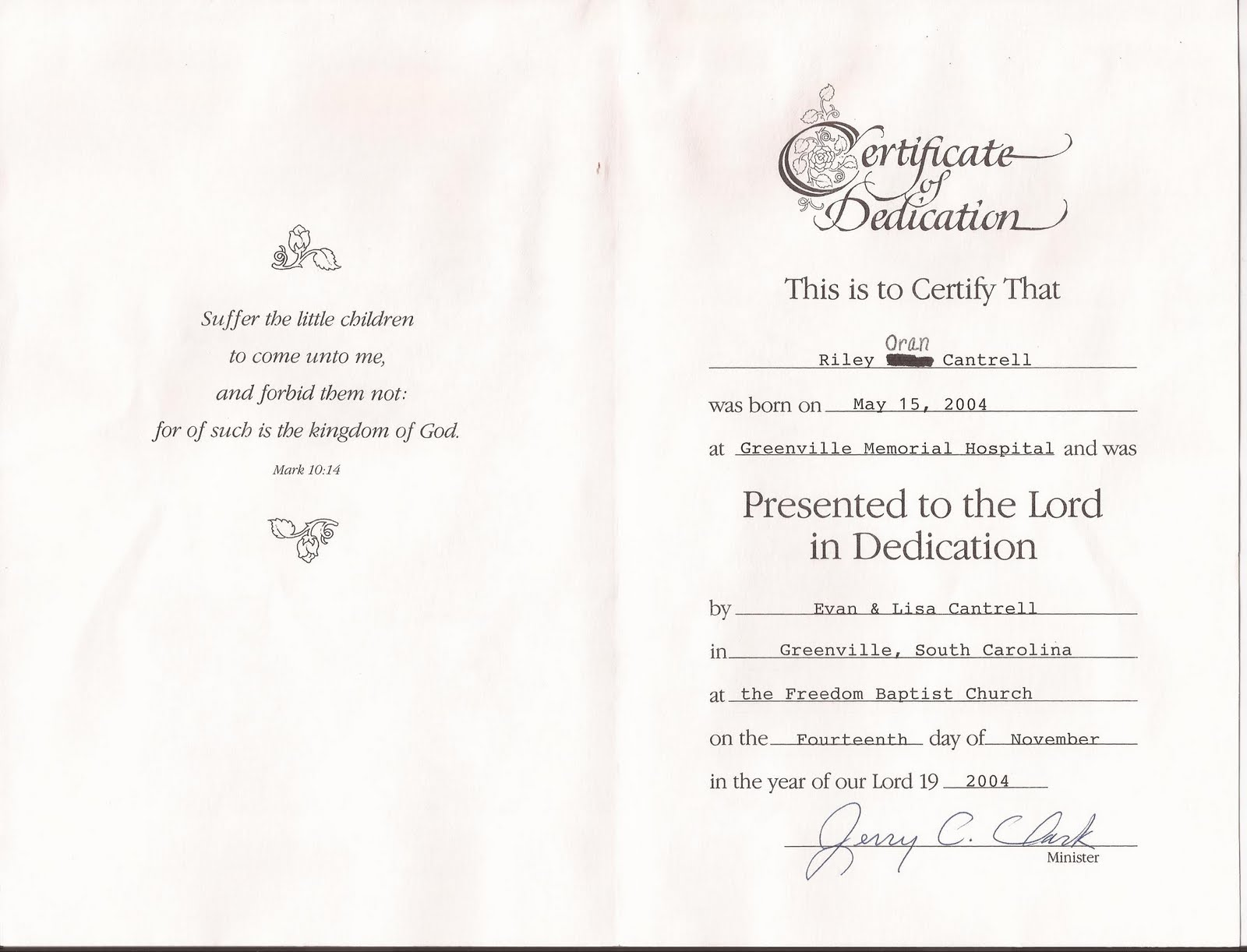 Fine Baby Dedication Certificates Templates Pictures Inspiration .  Baby Dedication Certificates Templates