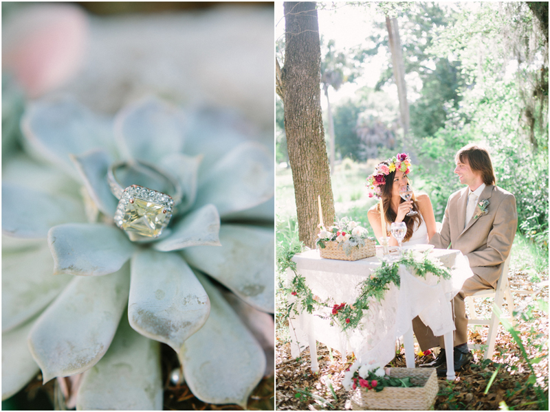 garden inspired stylized wedding photo