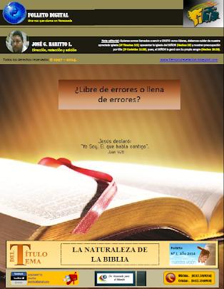 LA NATURALEZA DE LA BIBLIA