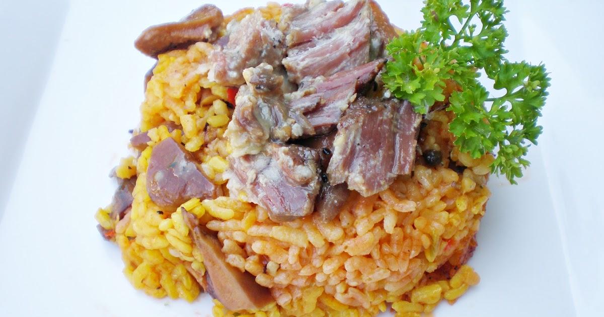 Blog de cuina de la dolorss: Arroz de carne de cerdo y setas con ...