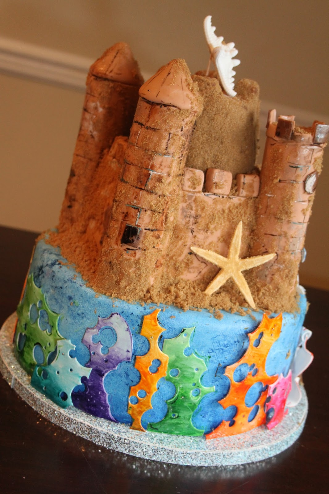 Picture Perfect Cakes Mermaid Sandcastle Cake