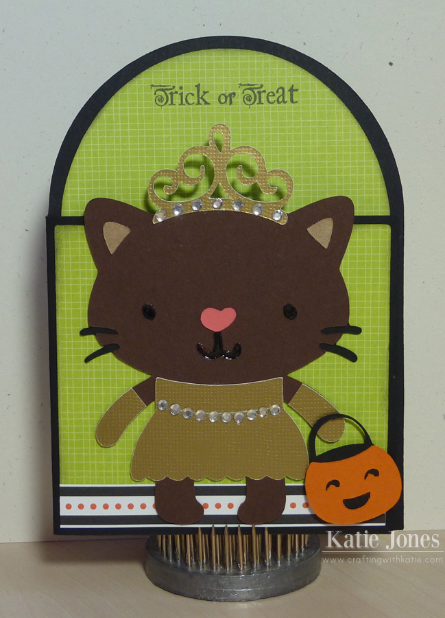 Crafting with katie princess kitty halloween card - Princesse kitty ...