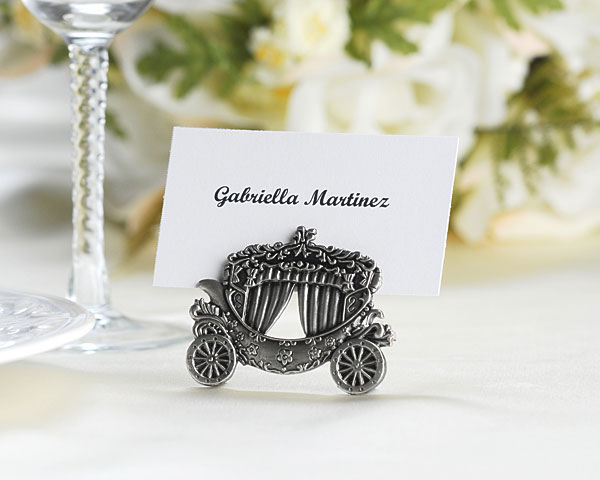 Have a Cinderella wedding with these unique and lovely place card holders