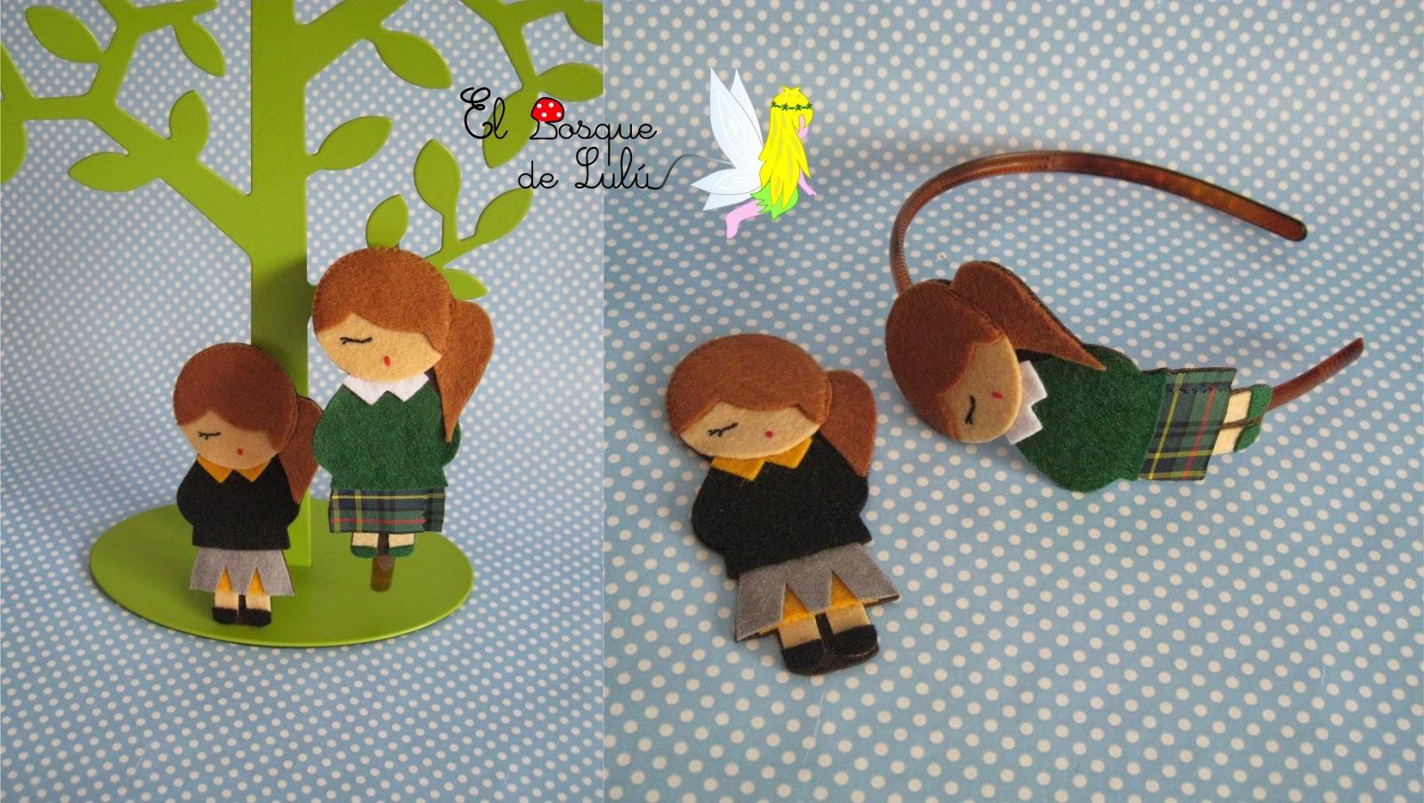 diadema-fieltro-uniforme-cole-muñeca