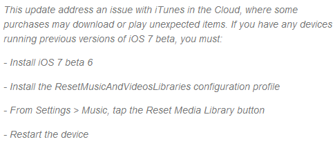 Apple iOS 7 Beta 6 Changelog