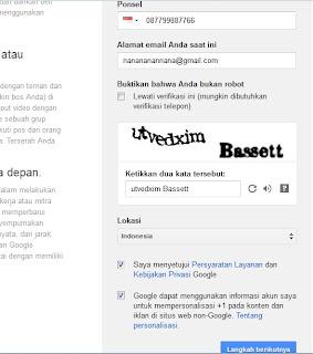 Gambar Step Kedua pembuatan Email di Google | Berita Informasi terbaru dan terkini