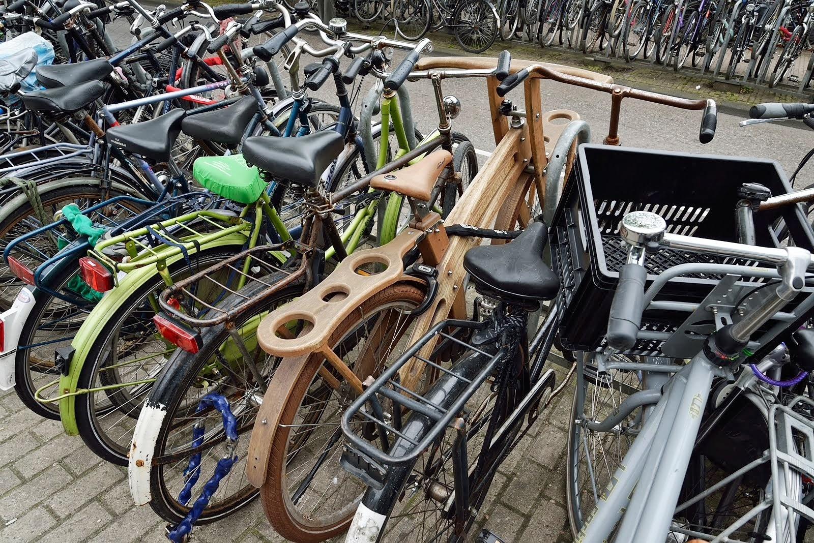 自転車の いい自転車 盗まれる : あ、木製自転車。当然タイヤは ...
