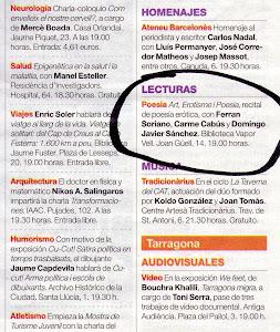 Anuncio en el Periódico de Catalunya.