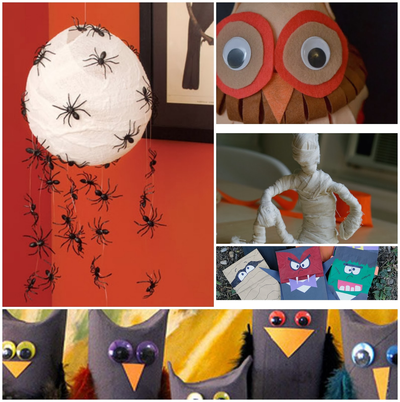 Halloween Spider Craft Paper