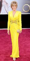 Джейн Фонда в яркожълта рокля на Оскари 2013