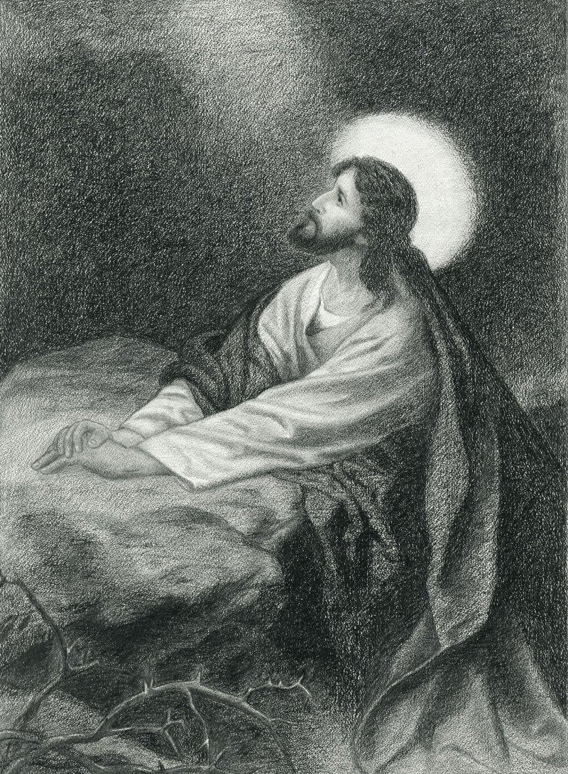 Drawings Of Jesus Praying - Bing Images