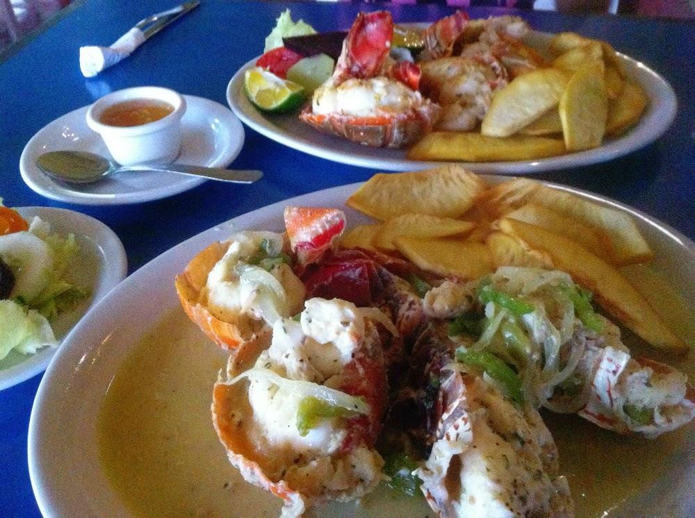 Langosta del Restaurante Pelican Bay