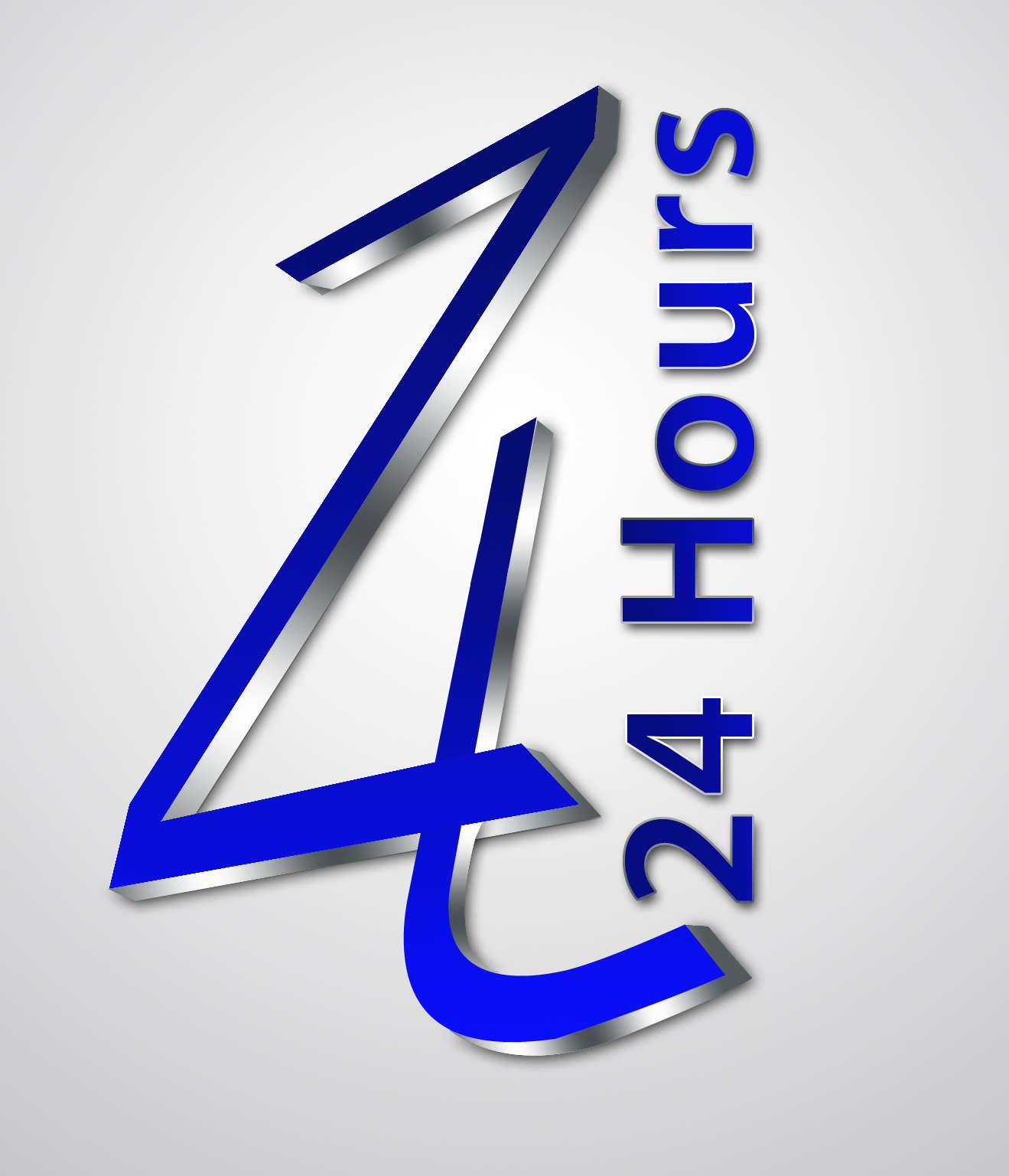 24 Hours Logo by Graphic Designer : Multimedia Graphic Designer