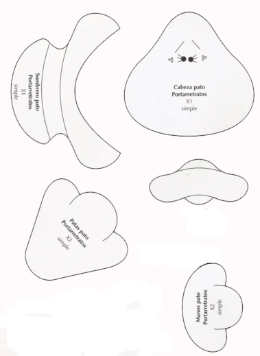 Elaboración de Fofucha :): Portaretrato Patito en foamy