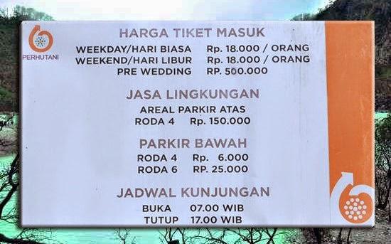 Harga Tiket masuk Kawah Putih Bandung Terbaru 2015