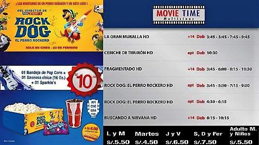 Cartelera Movietime Cañete Del 09 Al 15-02-2016.