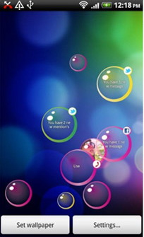 Androidzoom Android Themes Wallpapers Notification Bubbles Halloween Xyej Droidsans Bubble Live Wallpaper