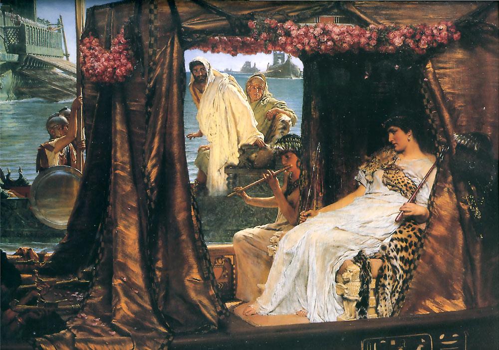 alma-tadema cleopatra anthony