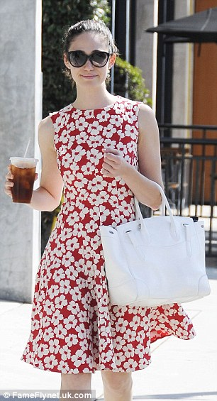 Emmy Rossum Floral Dress