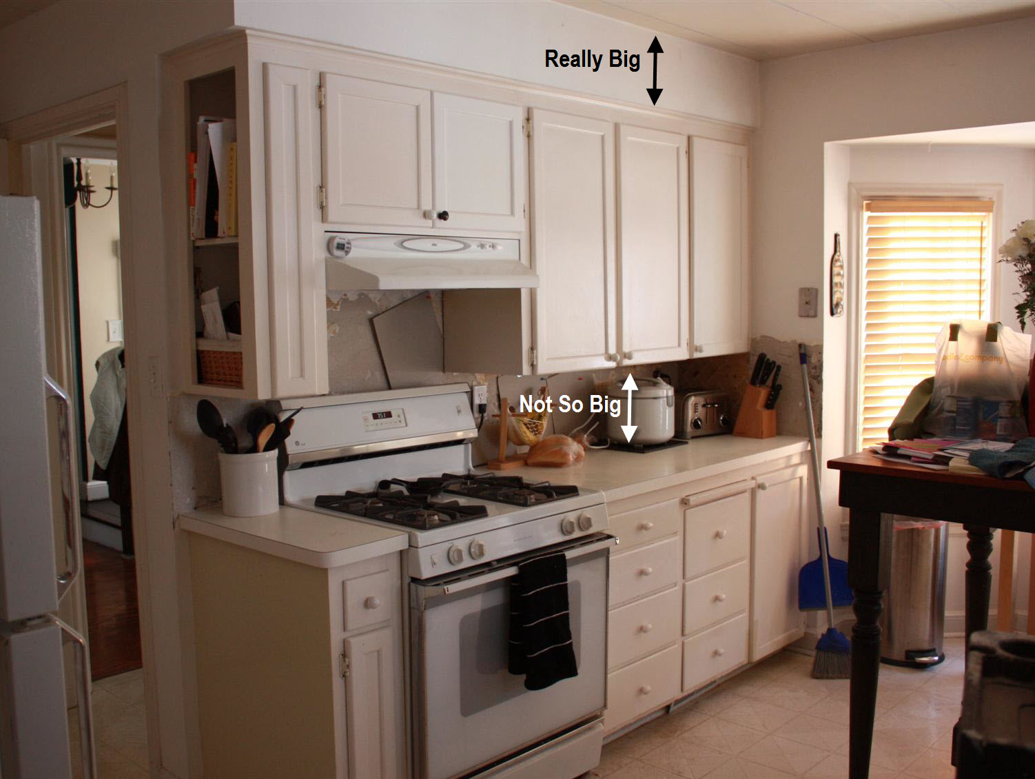 a picture of above kitchen soffit decorating ideas html with Kitchen Destruction on Above Cabi s besides Index together with Extending Kitchen Cabi s To Ceiling additionally How To Decorate Space Above Cabi s likewise Acik Mutfak 14.
