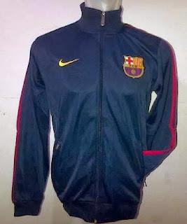 Jaket Bola Barcelona Warna Navy