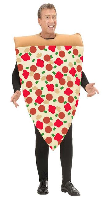 Udklædt som et stykke pizza