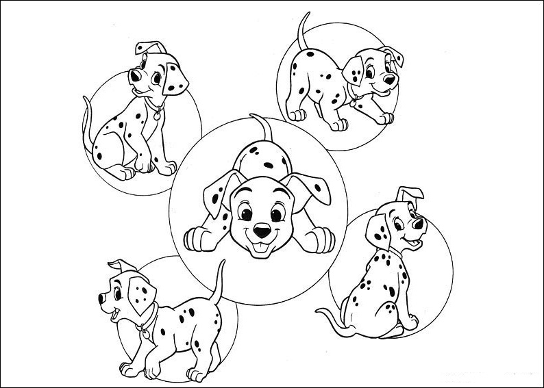 101 dalmatians coloring sheets you might also like