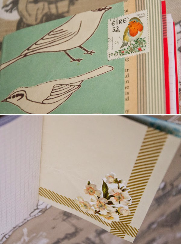 Easy DIY scrap paper book binding with the 5 hole pamphlet stitch. Great use for recycling cute, retro paper to make unique gifts. No specialist tools necessary.