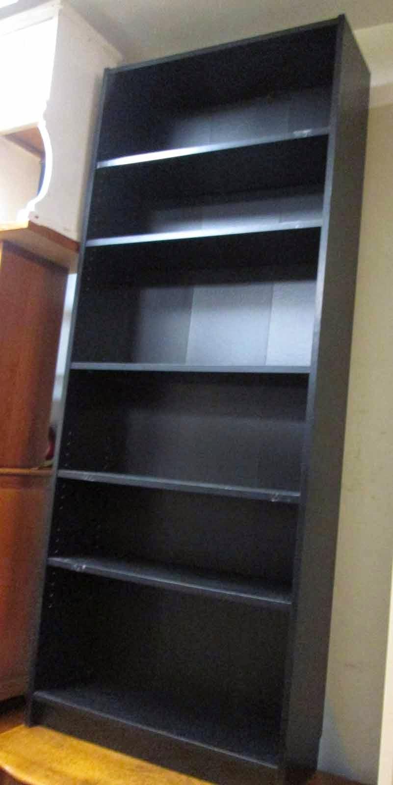 UHURU FURNITURE & COLLECTIBLES: SOLD Tall Black Bookcase - $25