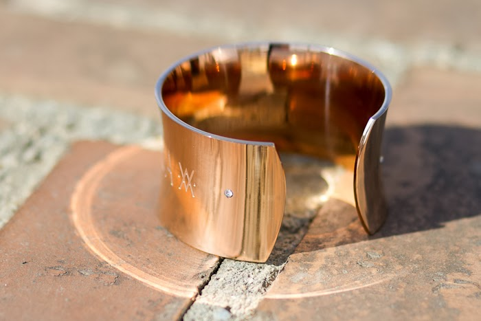 AMOR AIRE AGUA  Rose Golden Cuff by FLOR AMAZONA , FORTUNA Collection