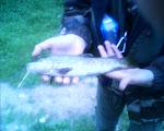 buena trucha pescada por Andres el primer dia de la temporada(2012)