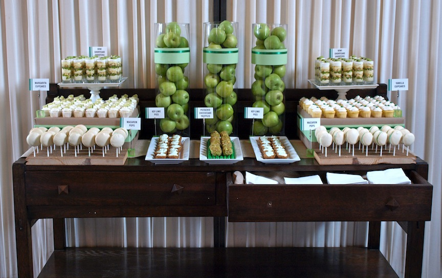 A Party Style Green Dessert Table