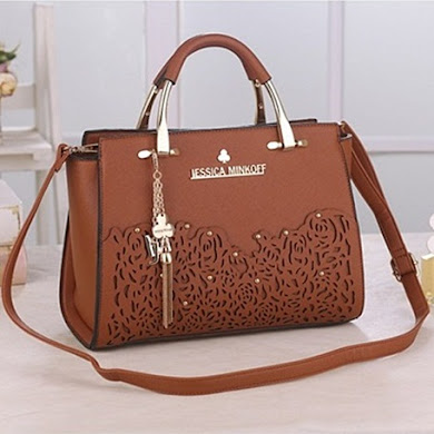JESSICA MINKOFF DESIGNER BAG - BROWN