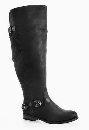 Wide Width Over the Knee Buckle Boots