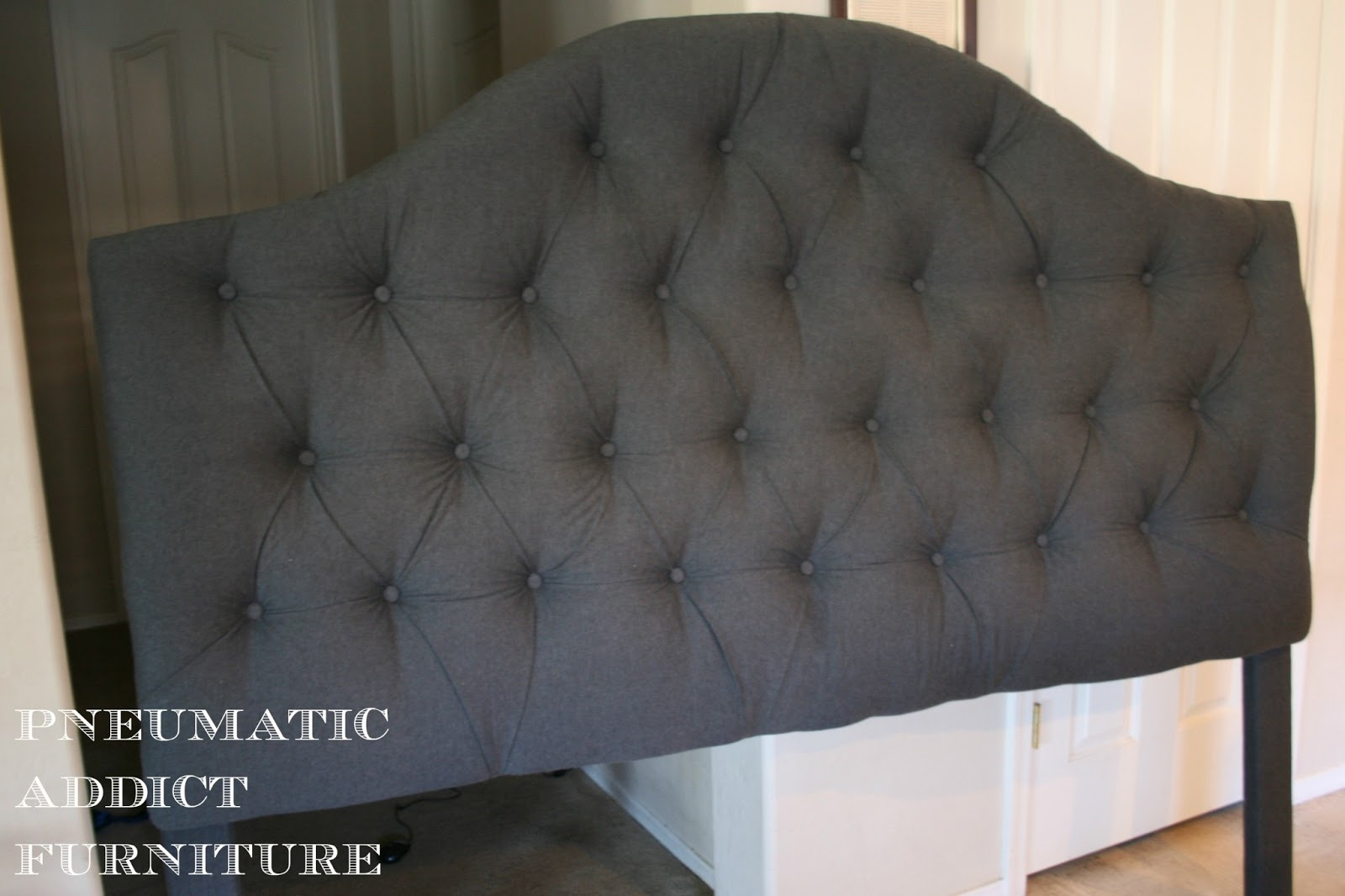 Cover Headboard With Fabric Pneumatic Addict Tufting A Headboard The Easy Way