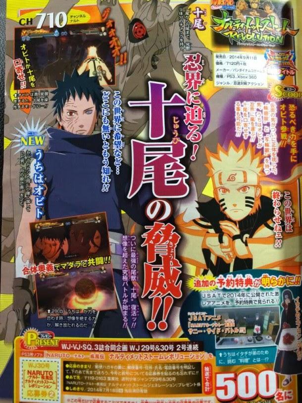 Obito Uchiha será jugable en Naruto Shippuden: Ultimate Ninja Storm Revolution