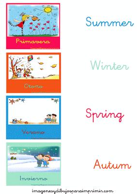 Las estaciones del año en inglés