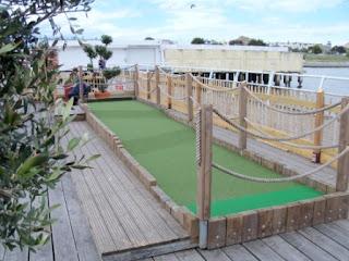 Crazy Golf course on Clacton Pier