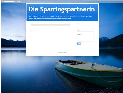 Die #Sparringspartnerin