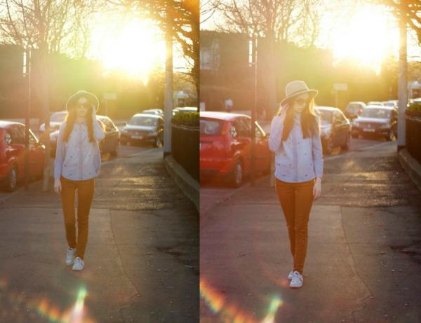 Zara jeans, converse, denim shirt